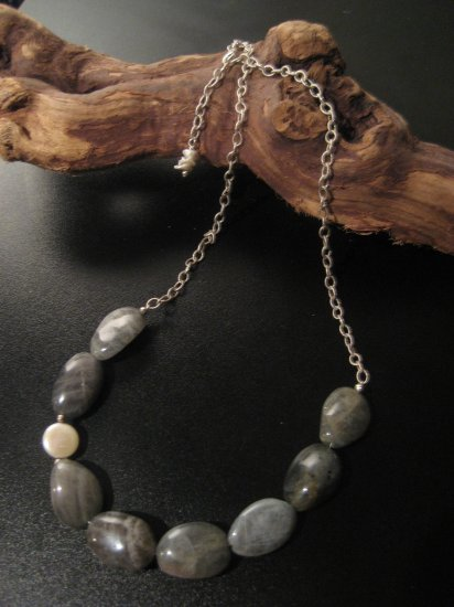 gray sky necklace