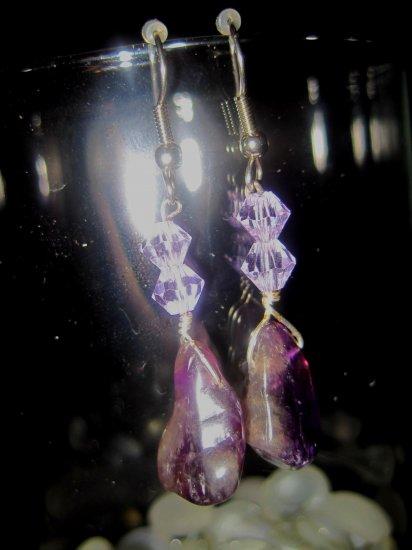 Amethyst Earrings- Wisteria