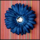 Blue Rhinestone Center Gerbera Daisy Clips