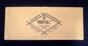 Vintage Pocket Expanding Kraftall Brand Large Check Accordion A to Z Visible Index File Made in USA