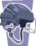 Helmet with half shield