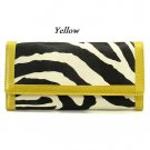 Zebra Print Women's Wallet, Yellow (120AW89)