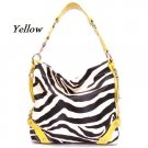 Zebra Print Women's Carly Handbag Purse, Yellow (120-5028)