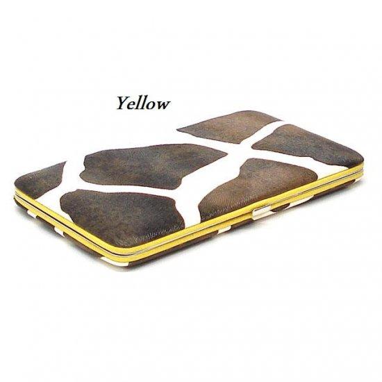 Giraffe Print Women's Frame Wallet, Yellow (122AW111)