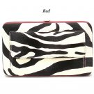 Zebra Print Women's Frame Wallet, Red (120AW147)