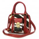 Zebra Print Women's Handbag Purse, Red (DN789)