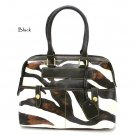 Zebra Print Women's Handbag Purse, Black (DN711)