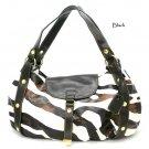 Zebra Print Women's Satchel Handbag Purse, Black (DN710)
