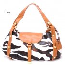 Zebra Print Women's Satchel Handbag Purse, Tan (DN710)
