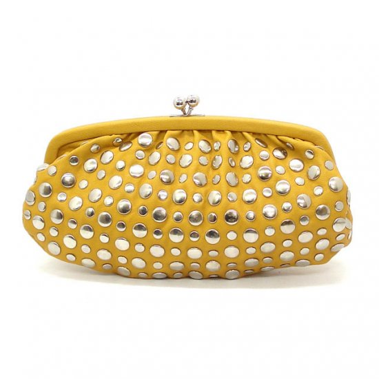 Urban Expressions Zeppelin Studded Clutch Bag, Yellow (X3093)