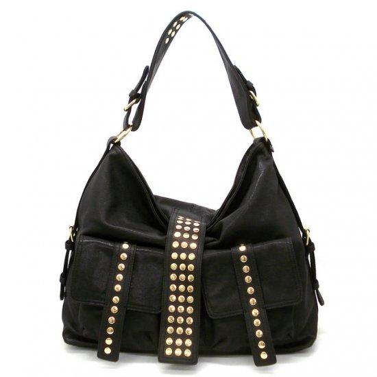 Urban Expressions Hobo Handbag Purse, Black