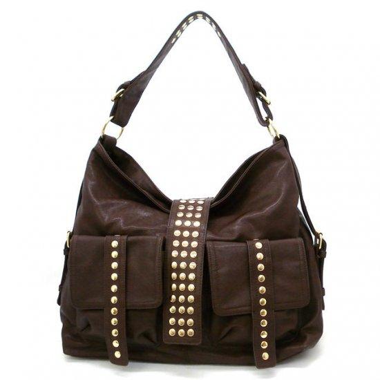 Urban Expressions Hobo Handbag Purse, Brown