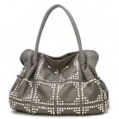 UE Adalie Studded Tote Handbag Purse, Grey