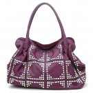UE Adalie Studded Tote Handbag Purse, Purple
