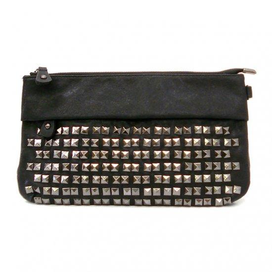 UE Henriette Studded Clutch Bag, Black
