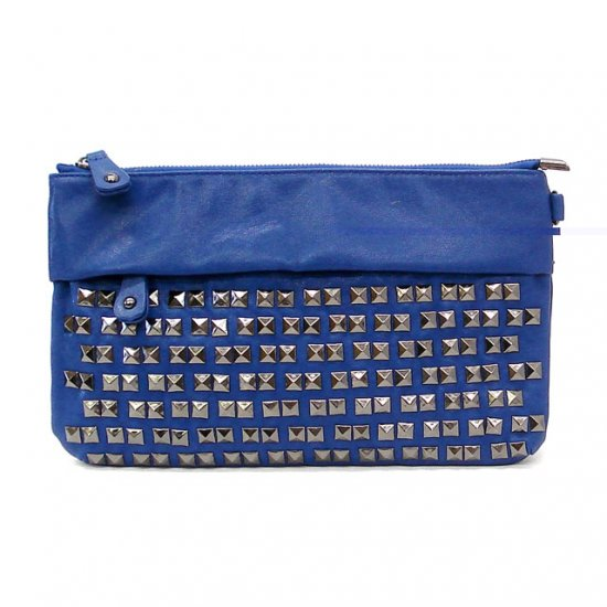 UE Henriette Studded Clutch Bag, Blue
