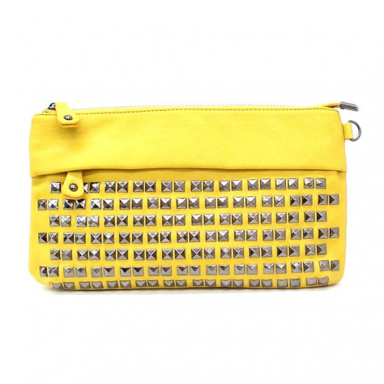 UE Henriette Studded Clutch Bag, Yellow