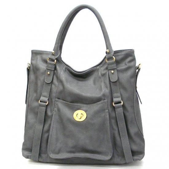 Abelia Tote Handbag Purse, Grey