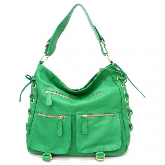 Abelina Hobo Handbag Purse, Green