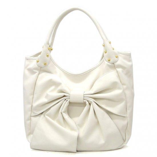 Abella Hobo Handbag Purse, White