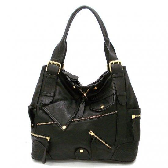 Aceline Tote Handbag Purse, Black