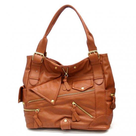 Aceline Tote Handbag Purse, Cognaq