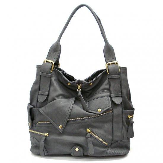 Aceline Tote Handbag Purse, Grey