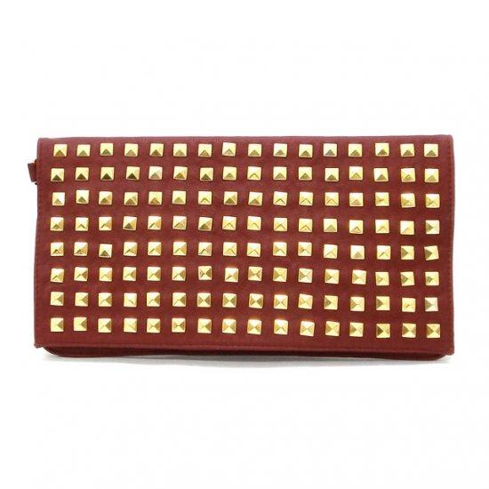Urban Expressions Studded Clutch Handbag, Red
