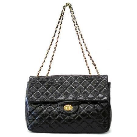 Hettie Quilted Shoulder Handbag, Black