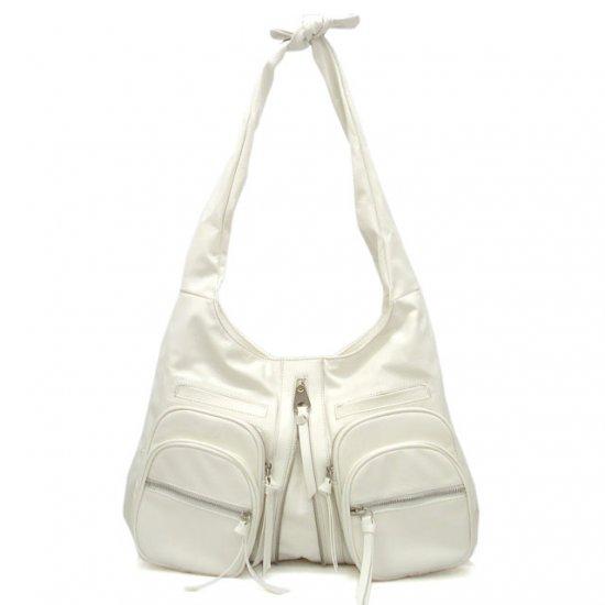 Urban Expressions Clara Knotted Shoulder Handbag, White