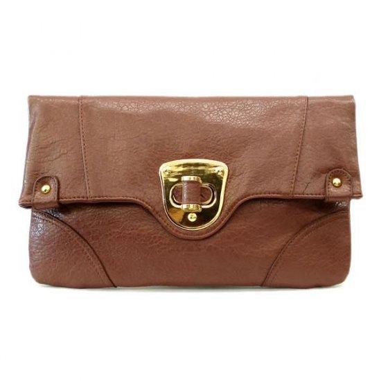 Hilaire Evening Clutch Handbag, Brown
