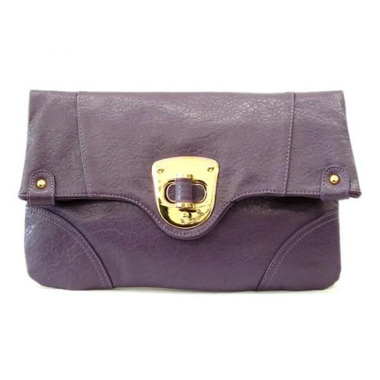 Hilaire Evening Clutch Handbag, Purple
