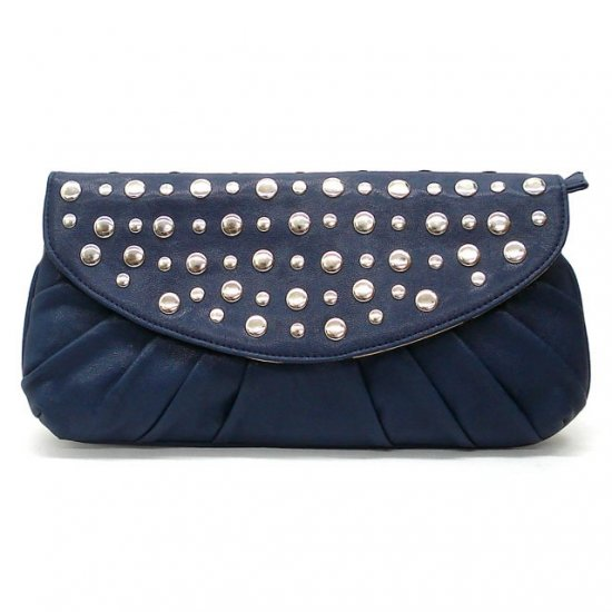 Urban Expressions Marvelle Studded Clutch Handbag, Blue