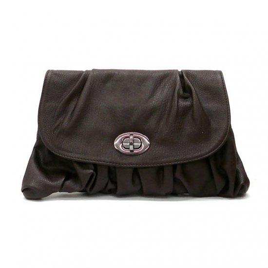 Holly Clutch Handbag, Brown