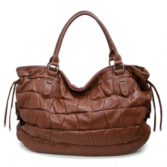 Urban Expressions Honore Tote Handbag Purse, Cognaq
