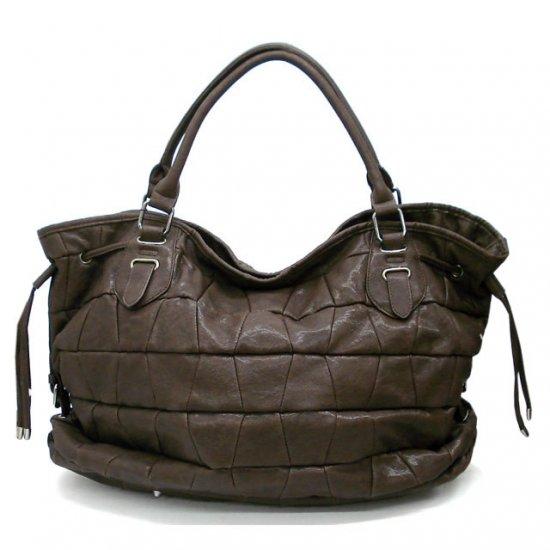 Honore Tote Handbag Purse, Brown