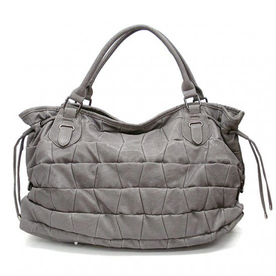 Honore Tote Handbag Purse, Grey