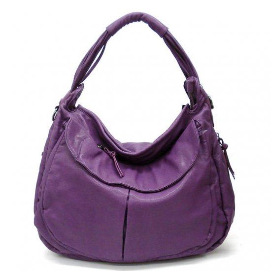 Maryl Hobo Handbag Purse, Purple