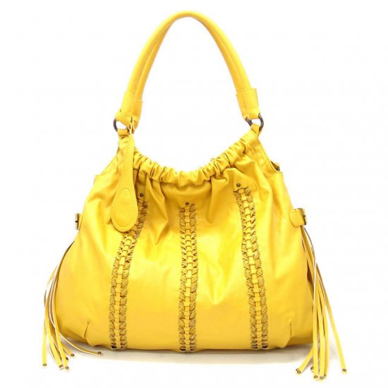 Clarette Hobo Handbag Purse, Yellow