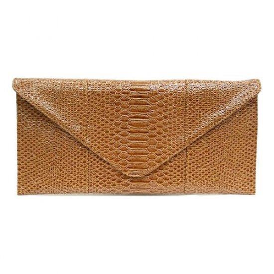 Urban Expressions Claribel Envelope Style Clutch Handbag, Camel
