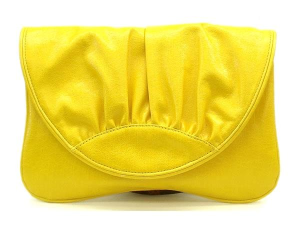 Hugette Clutch Handbag, Yellow