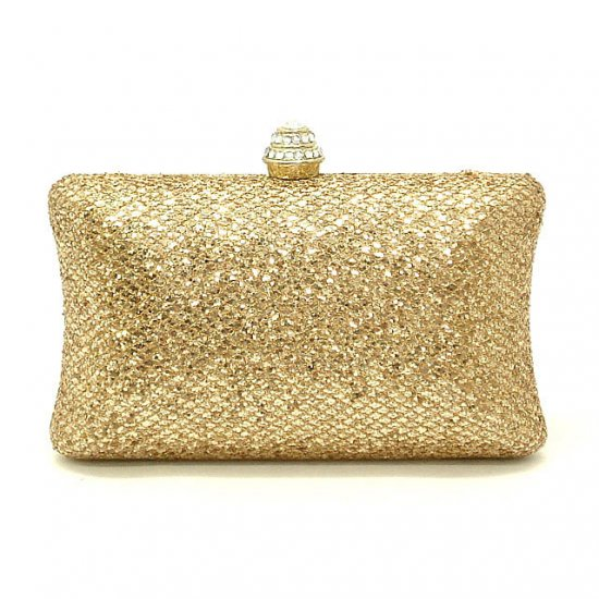 Urban Expressions Clarice Evening Handbag, Gold