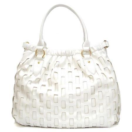Mathilde Hobo Handbag Purse, White