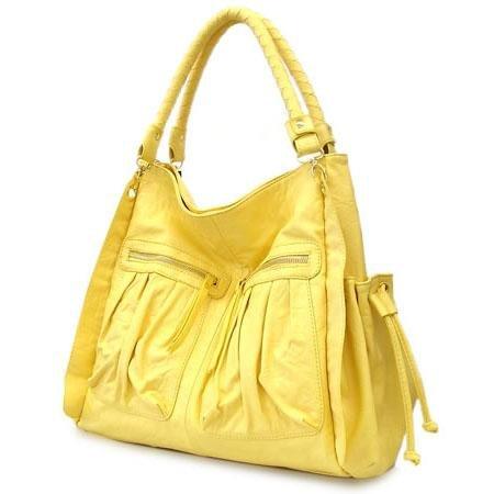 Urban Expressions Bella Ila Hobo Handbag Purse, Yellow