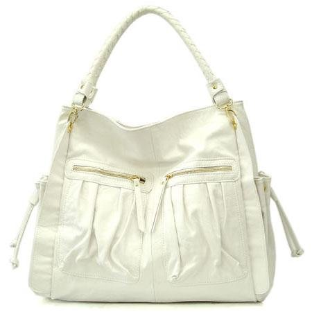 Urban Expressions Bella Ila Hobo Handbag Purse, White