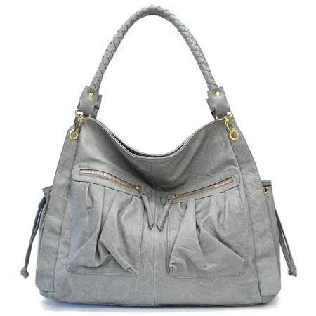 Bella Ila Hobo Handbag Purse, Grey