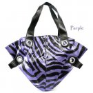 Zebra Print Handbag Purse, Purple