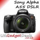 Sony Alpha SLT-A55 DSLR +18-55 Lens