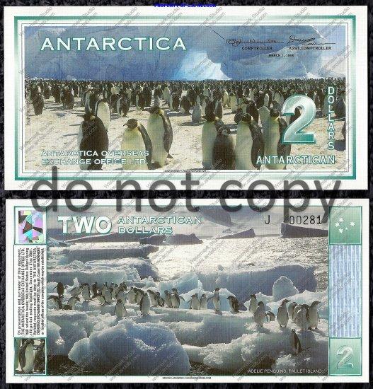 Antarctica $2 Dollar Bill 1996