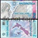 Antarctica $2 Dollar Bill Polymer 2008